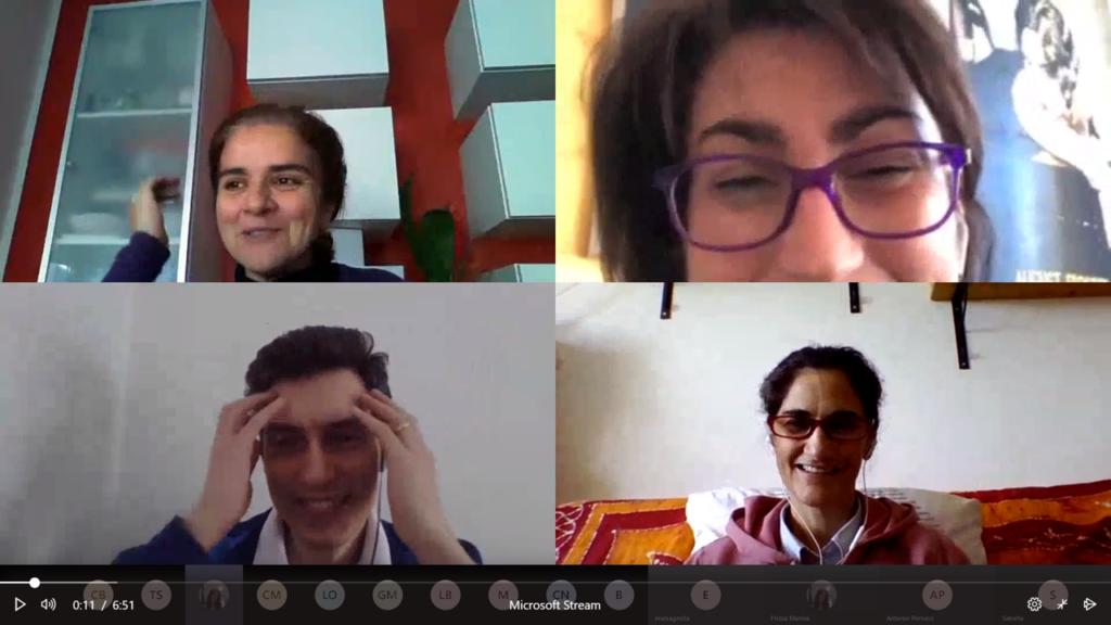 Immagine di una videoconferenza nel gruppo di docenti - credits