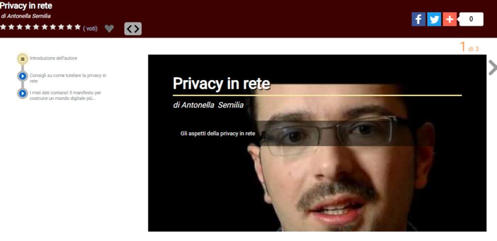 Immagine del processo di pubblicazione di un video sul sito di rai scuola