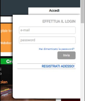 screen della schermata di accesso al sito rai scuola